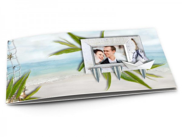 Remerciements mariage - Les îles – une plage paradisiaque