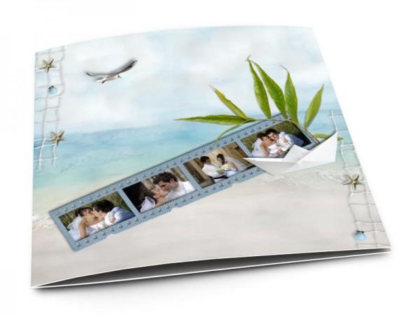 Remerciements mariage - Les îles – plage tropicale