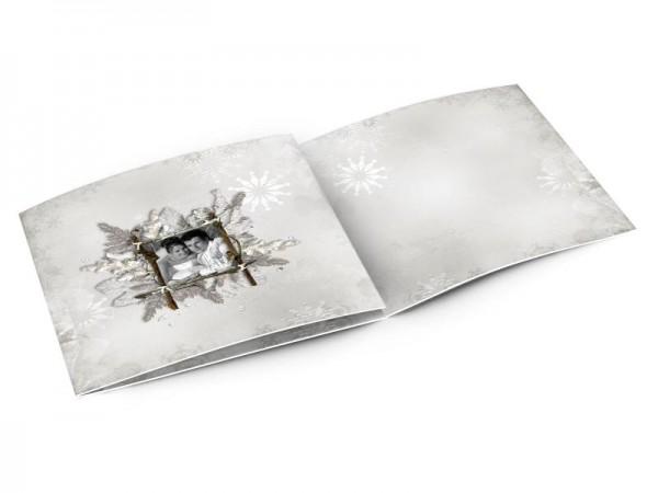 Remerciements mariage - L'hiver – cristaux de neige