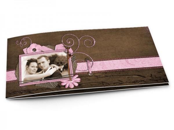 Remerciements mariage - Rose et chocolat – ornements roses