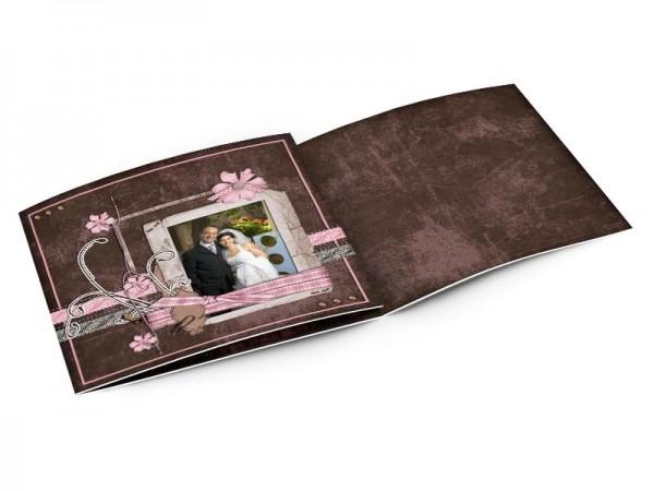 Remerciements mariage - Rose et chocolat – fleurs roses et ornements