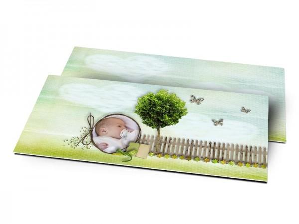 Remerciements naissance - L'arbre aux papillons