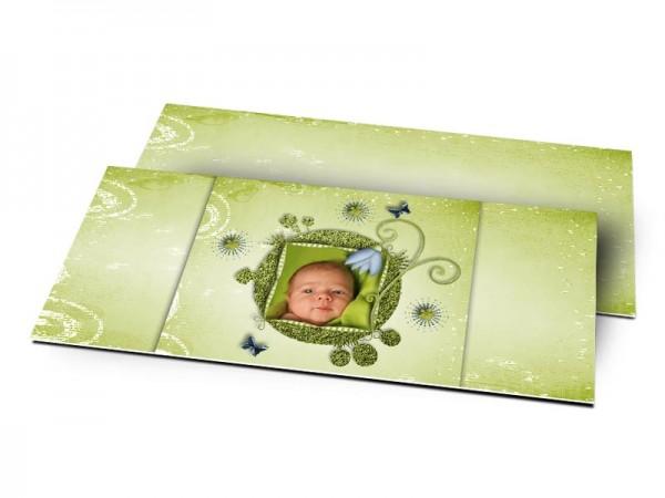 Remerciements naissance - La planète verte