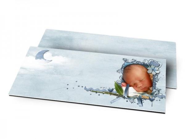 Remerciements naissance - Ciel nuageux