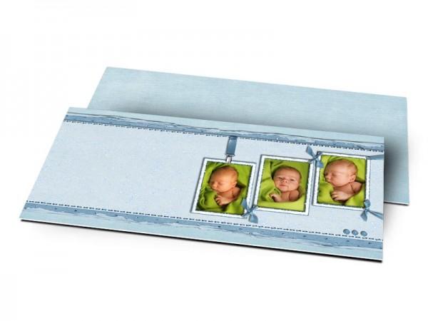 Remerciements naissance - Trio de rectangles