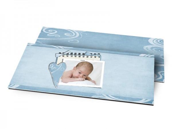 Remerciements naissance - Coeur en papier