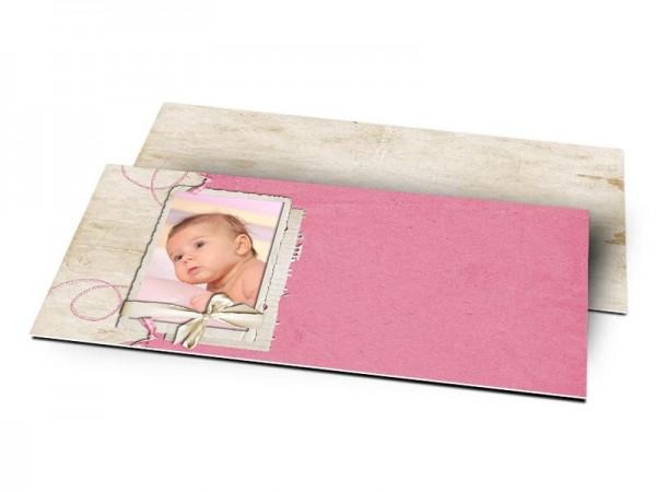 Remerciements naissance - Le fil rose
