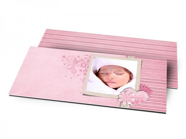 Remerciements naissance - Superposition de rose