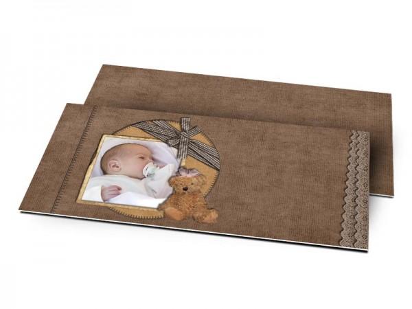 Remerciements naissance - L'ours brun