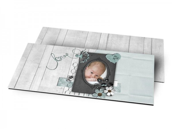 Remerciements naissance - Portrait love