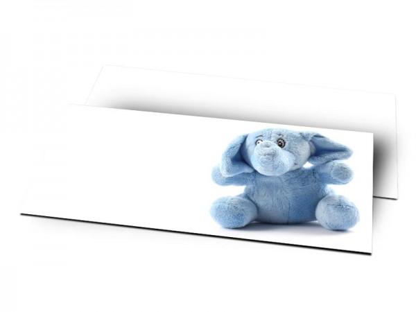 Remerciements naissance - L'éléphant bleu
