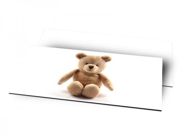 Remerciements naissance - L'ourson marron