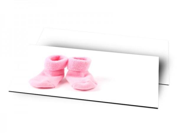 Remerciements naissance - Chaussettes roses