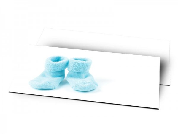 Remerciements naissance - Chaussettes bleues
