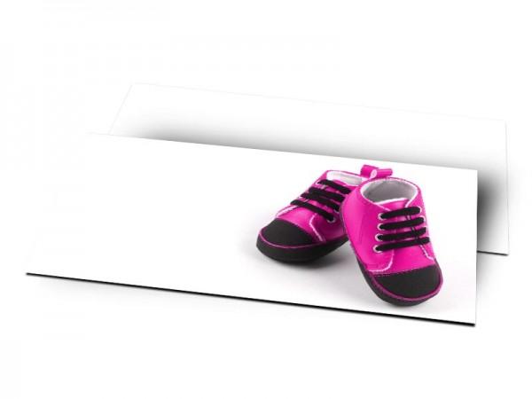 Remerciements naissance - Chaussures rose
