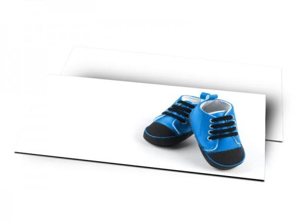 Remerciements naissance - Chaussures bleues