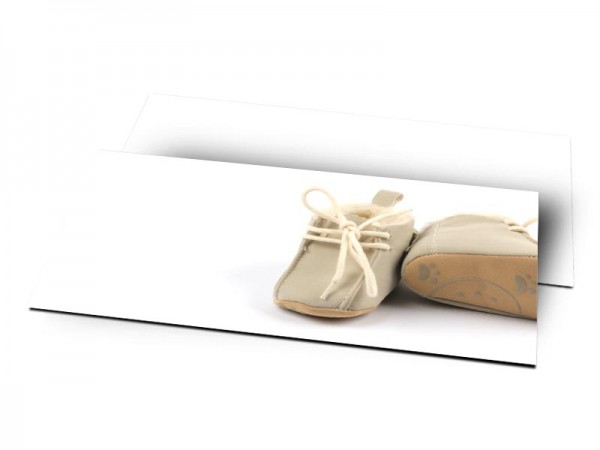 Remerciements naissance - Chaussures bébé