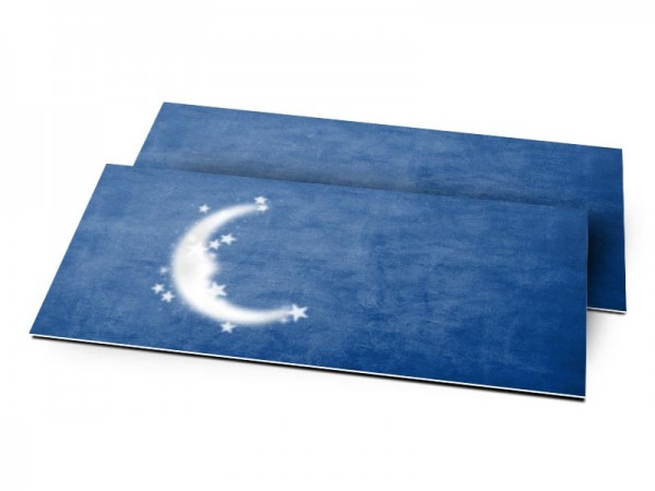 Remerciements naissance - Lune bleue