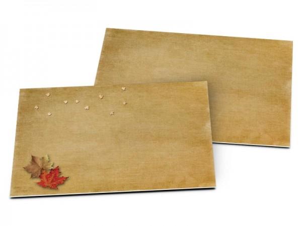 Carton d'invitation mariage - Une ballade automnale