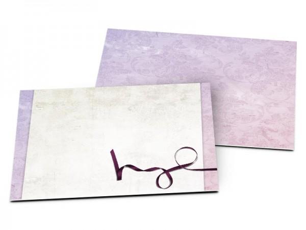 Carton d'invitation mariage - Un ruban violet
