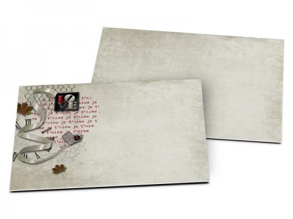 Carton d'invitation mariage - L'amour donne des ailes