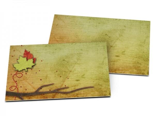 Carton d'invitation mariage - Poésie d'automne
