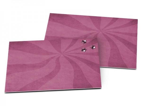 Carton d'invitation mariage - Deux coeurs enlacés