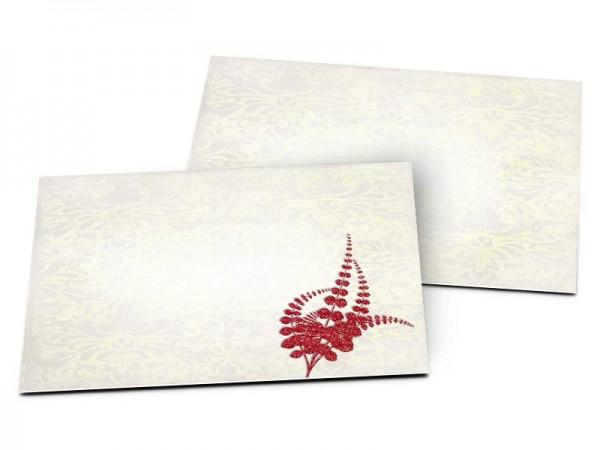 Carton d'invitation mariage - Un nid de feuilles