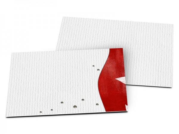 Carton d'invitation mariage - Étoile gris et rouge