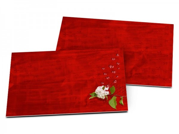 Carton d'invitation mariage - L'amour