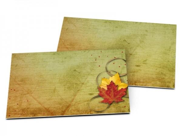 Carton d'invitation mariage - Automne chaleureux