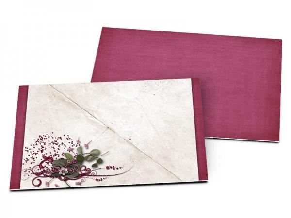 Carton d'invitation mariage - Graines dispersées par le vent