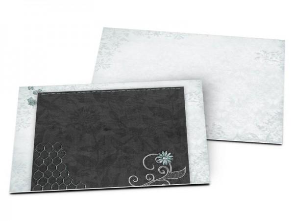 Carton d'invitation mariage - Camaïeu de bleu