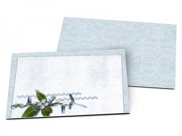 Carton d'invitation mariage - Coeur bleu