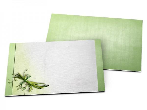 Carton d'invitation mariage - Végétal