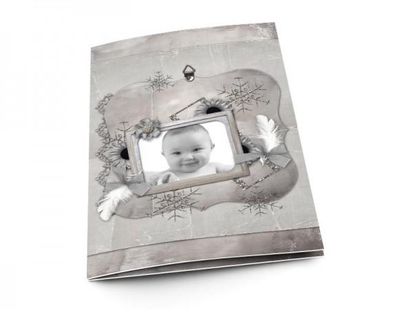 Menu baptême - Tout en gris