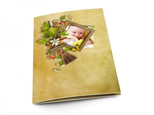 Menu baptême - Un bouquet printanier