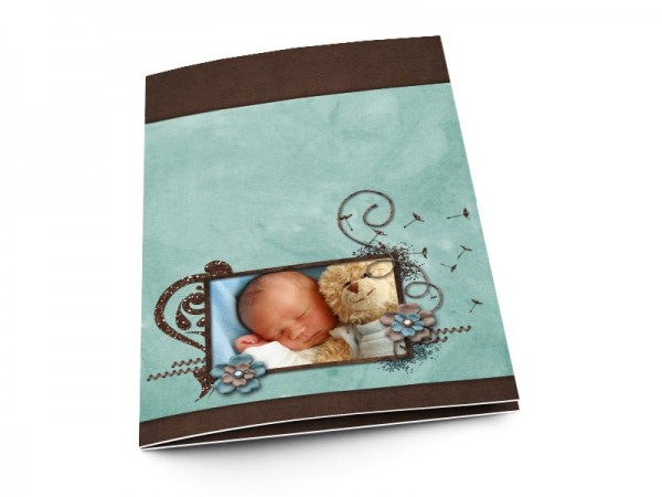 Menu baptême - L'envol des fleurs