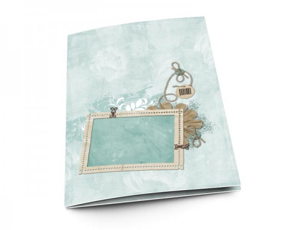 Menu baptême - Beige et turquoise