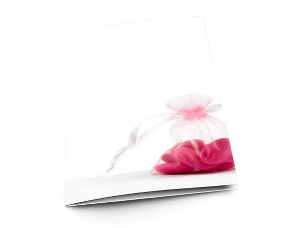 Menu baptême - Dragées roses