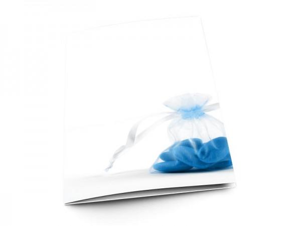 Menu baptême - Dragées bleues
