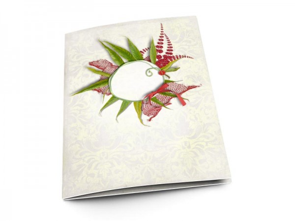 Menu mariage - Un nid de feuilles