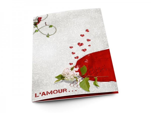 Menu mariage - L'amour