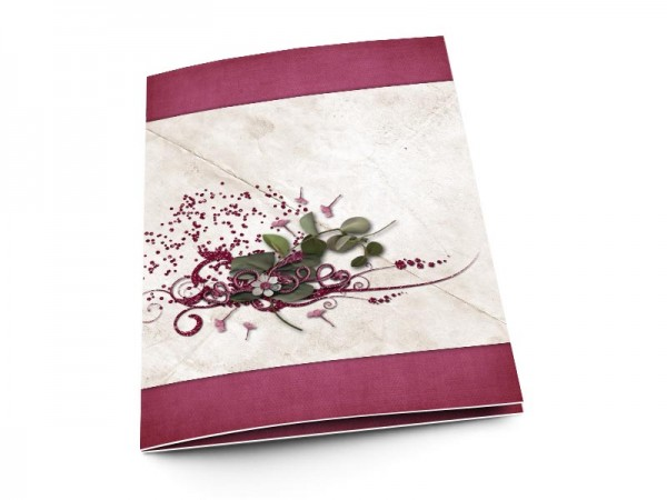 Menu mariage - Graines dispersées par le vent
