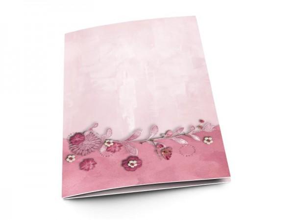 Menu mariage - La vie en rose