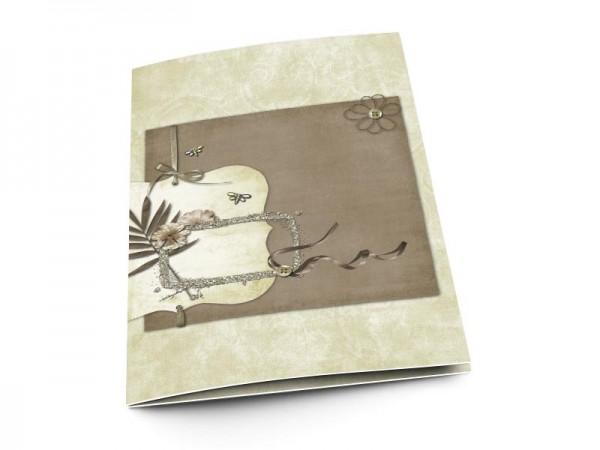Menu mariage - Rubans et libellules