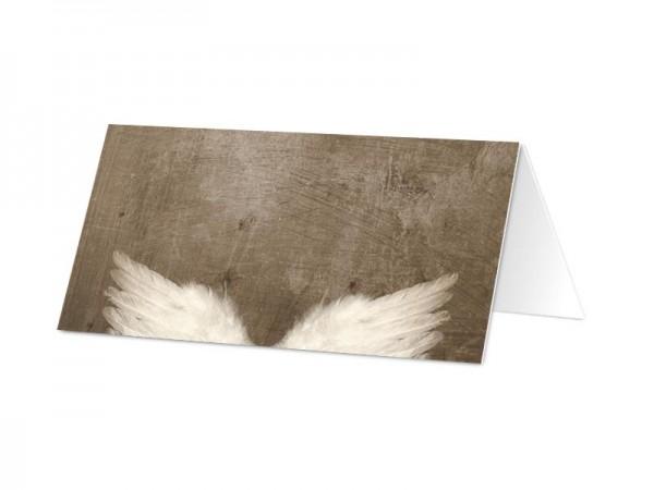 Marque-place baptême - Les ailes de l'ange