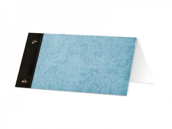 Marque-place communion - Croix bleue en filigrane
