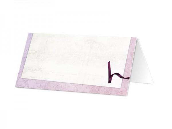 Marque-place mariage - Un ruban violet