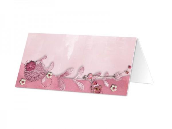 Marque-place mariage - La vie en rose